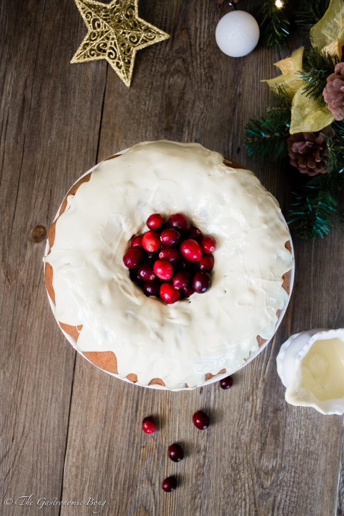 Orange and Cranberry Bundt Cake with White Chocolate Drizzle5