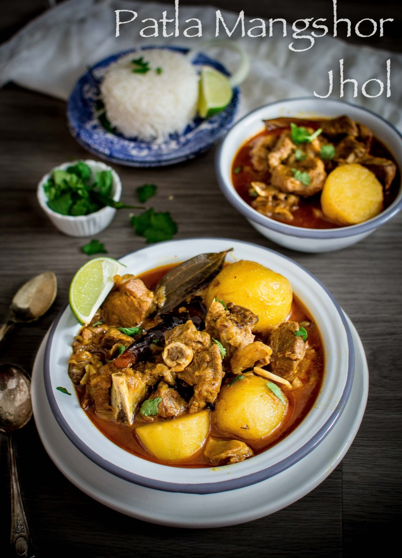 Patla Mangshor Jhol (Bengali Mutton Curry)