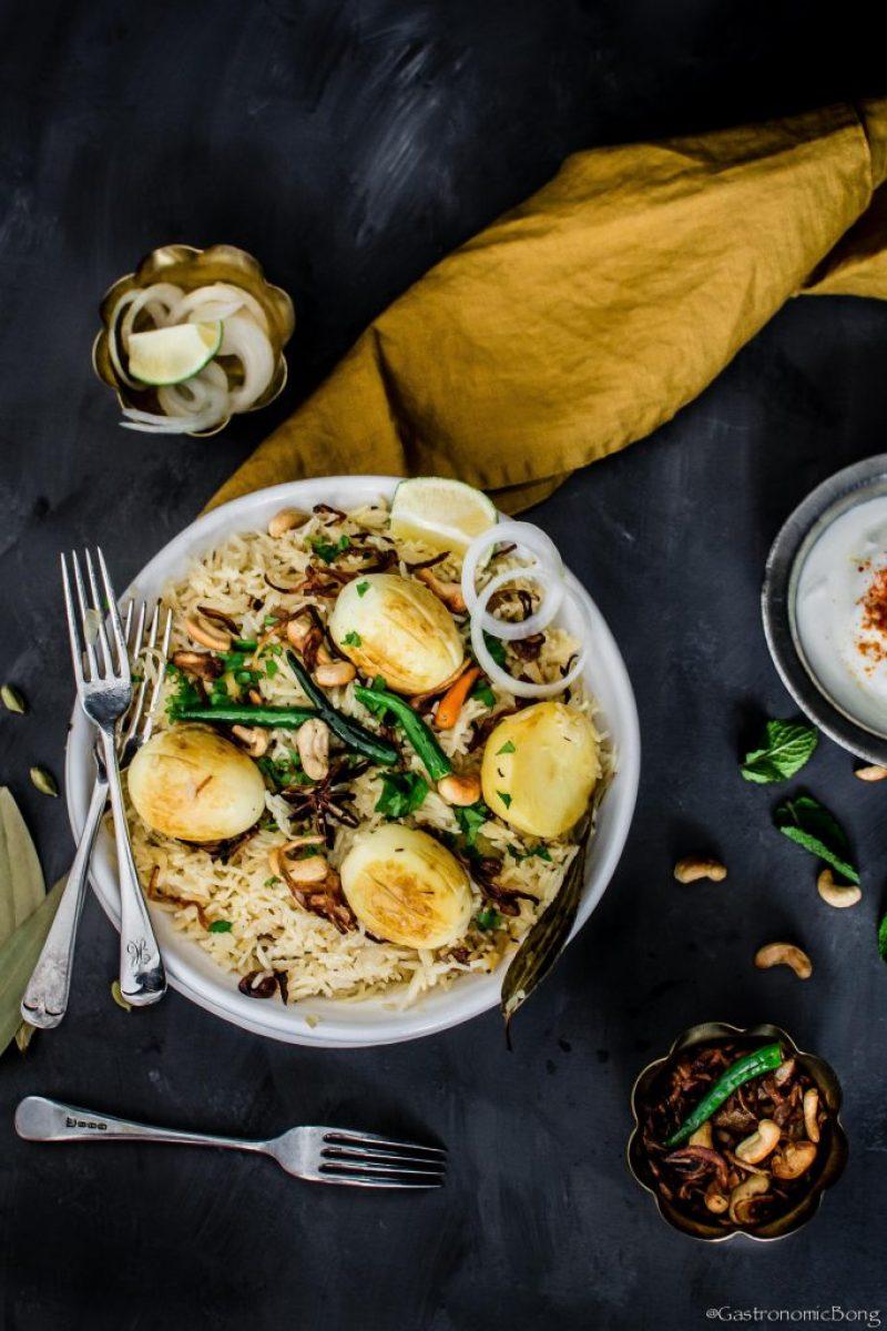 Anda Pulao-Bengali egg pulao