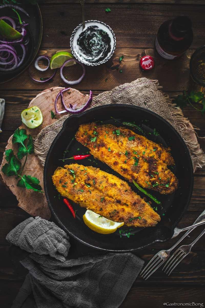 Crispy Rava Basa Fish Fry