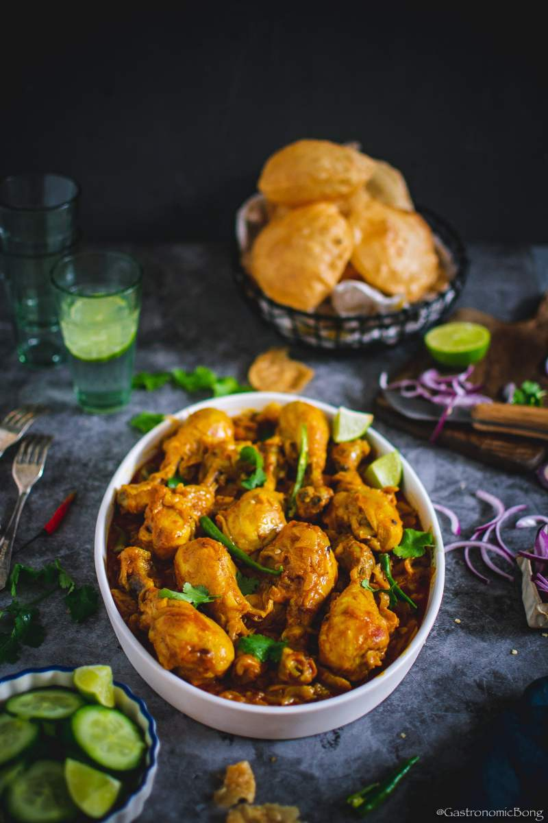 Chicken curry with methi dana