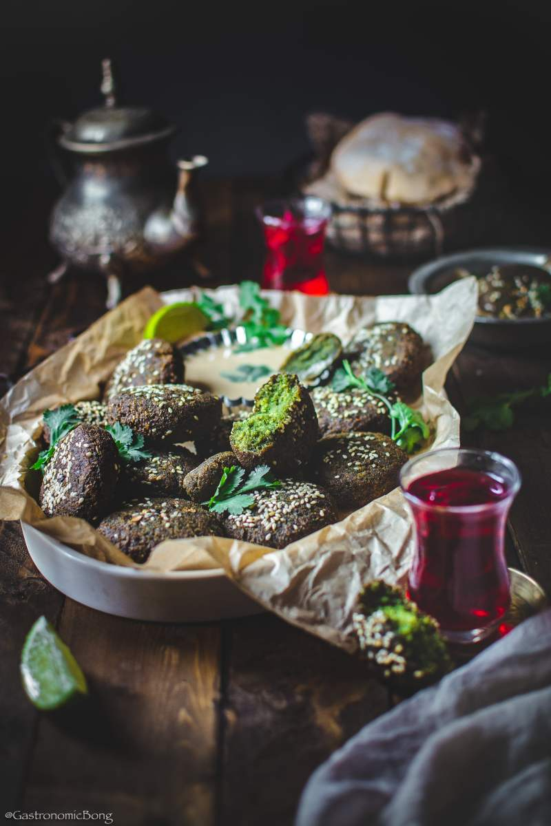Egyptian Falafel with fava beans (Ta'ameya)