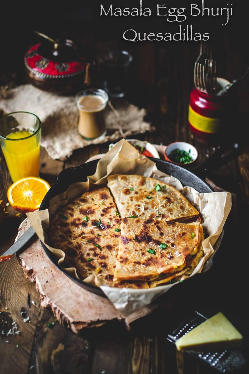 Masala Egg Bhurji Quesadillas