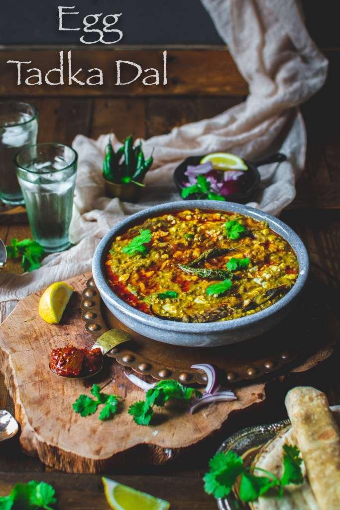 Egg Tadka Dal Dhaba Style or Dim Torka