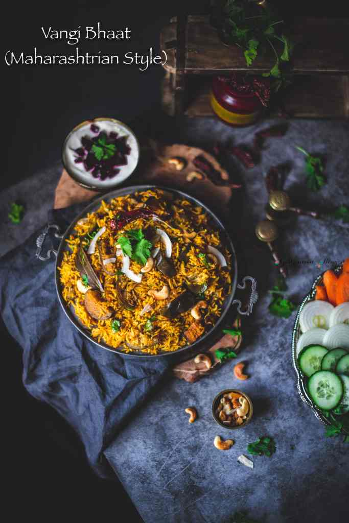 Vangi Bhaat (brinjal fried rice)