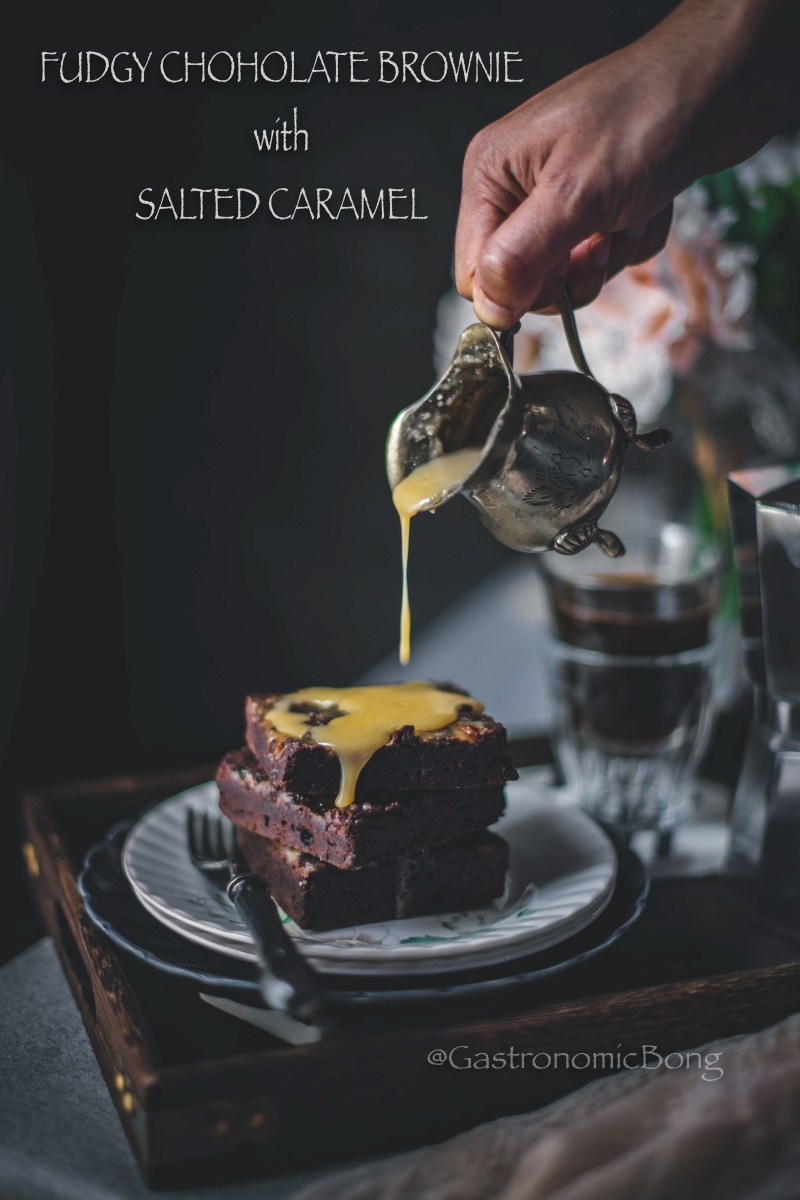 Fudgy Chocolate Brownie with Salted Caramel