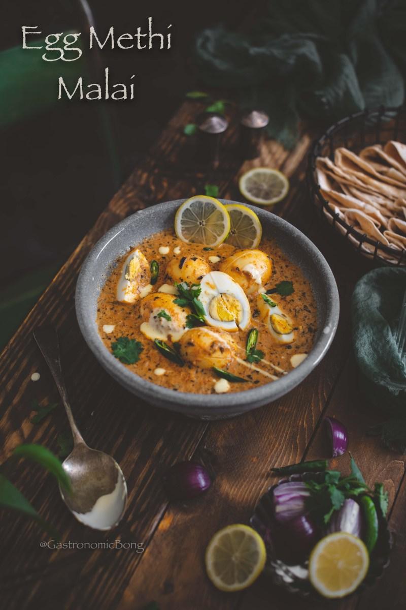 Egg Methi Malai Curry