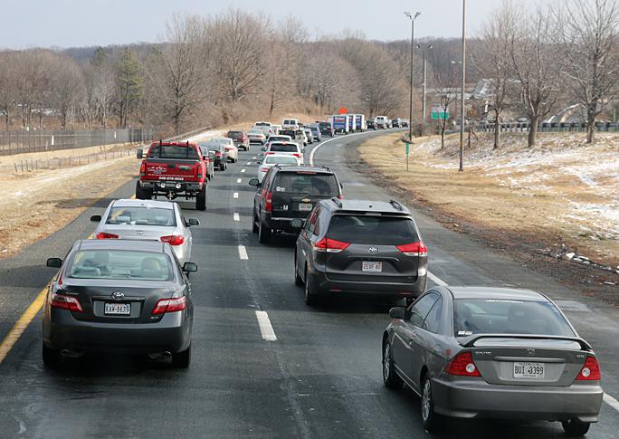 Interstate 66 highway traffic