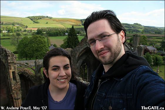 Aisha & Wil at Melrose Abbey