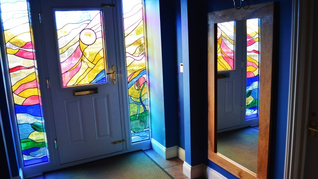 Front door by Hannah Stained Glass