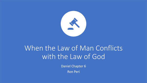 When the Law of Man Conflicts with the Law of God
