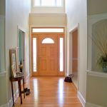 Foyer charming-parquet-flooring-in-simple-decorating-a-foyer-plus-small-wood-classic-console-table-with-wall-art-decor-design-ideas