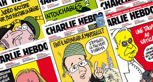 Charlie Hebdo French Magazine Covers