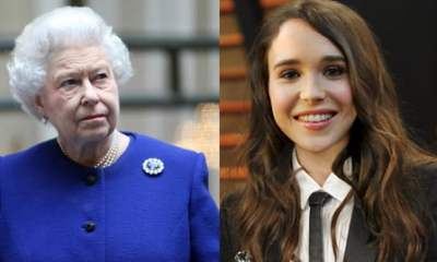 Lesbian Celebrity activist Ellen Page and Queen Elizabeth II