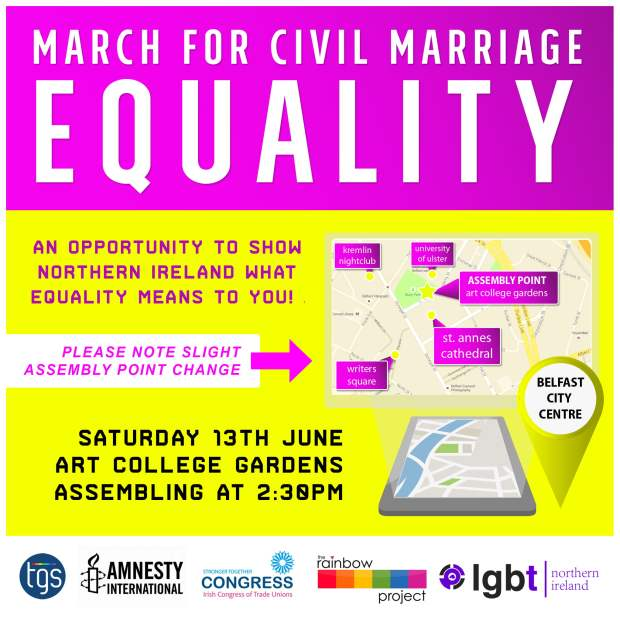 Northern Ireland civil marriage for LGBT citizens March