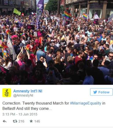 marriage equality amnestry international northern ireland tweet