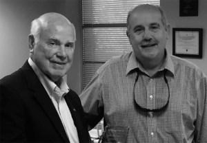 Representative Richard Bennett congratulated Senator Tommy Gollott