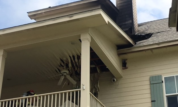 LIGHTNING STRIKES TIMBER RIDGE HOUSE