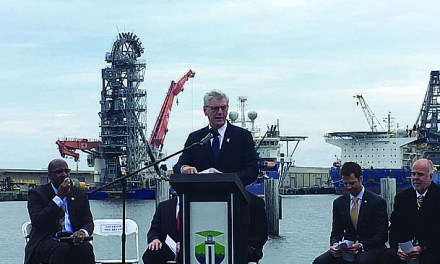 Ocean Enterprise Honors Ground Breaking Ceremony at State Port