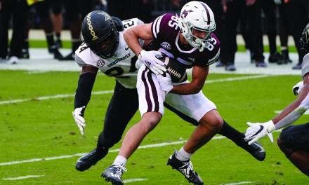 Mississippi State ekes past short-handed Vanderbilt 24-17