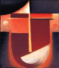 Abstract Head : Inner Vision-Rosy Light, 1926, Oil on board,Philadelphia Museum of Art, The Louise and Walter Arnsberg Collection, 1950.
