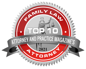 Top 10 Family Law Attorney Badge