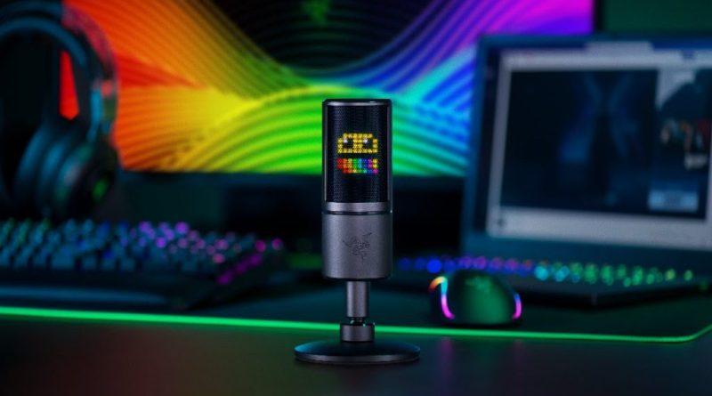 Razer lança o primeiro microfone para streamers do mundo que reage com emoticons às interações do público.