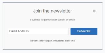 convertkit basic email form