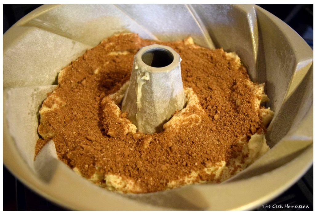 cinnamon mixture over first layer