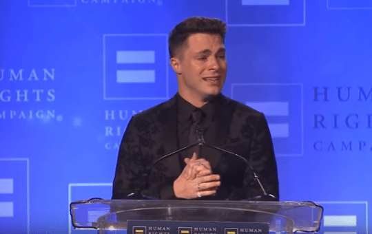 Colton Haynes Human Rights Campaign Visibility Award Speech