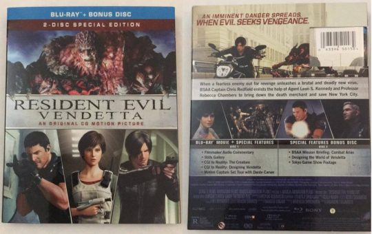 Resident Evil Vendetta Blu-ray review chris leon rebecca Capcom