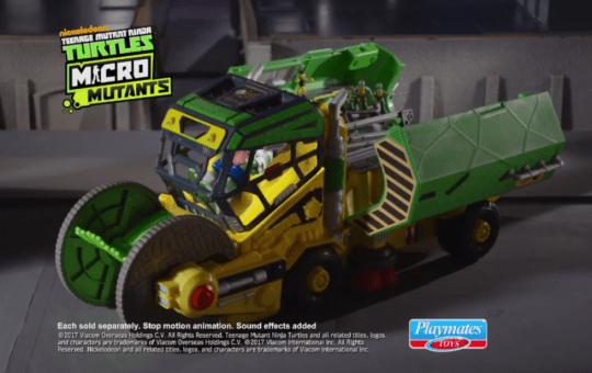 teenage mutant ninja turtles micro mutants sweep playset playmates toys