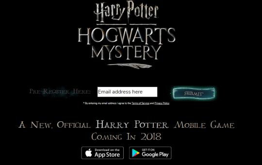 Harry Potter Hogwarts Mystery mobile game website