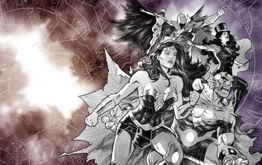 No Justice Team Wonder Raven Wonder Woman DC Comics