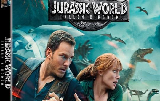 Jurassic World 2 Fallen Kingdom blu-ray dvd digital 4k release