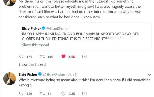 Elsie Fisher bohemian Rhapsody cyberbullying