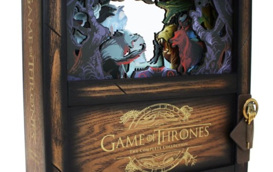 game of thrones the complete collection wooden shadow box