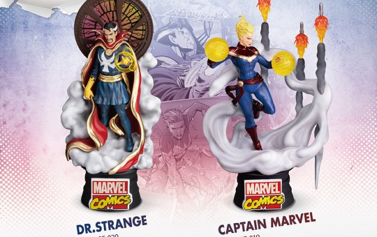 doctor strange captain marvel d-stage statues