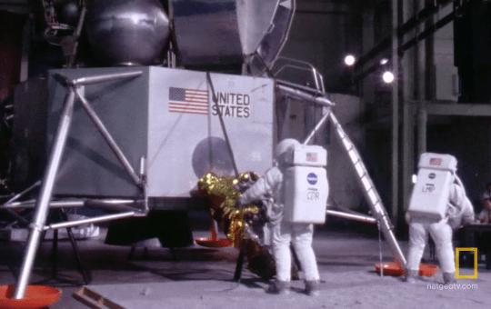 Astronauts training, courtesy of National Geographic
