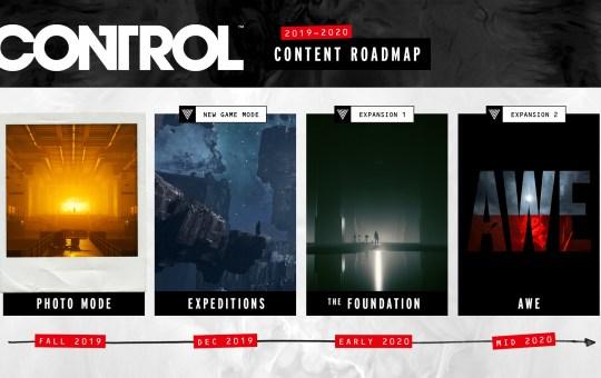 Control Roadmap DLC 2020
