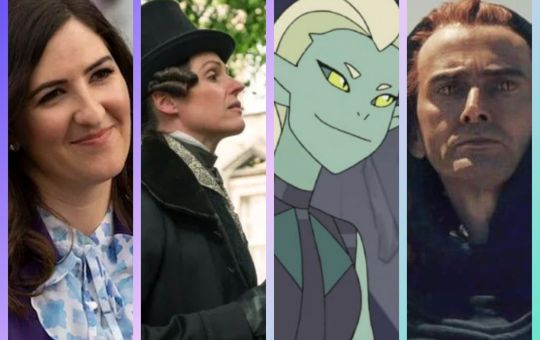Four characters from fandom who have had to assert their identities. Janet from the Good Place, Anne Lister from Gentleman Jack, Double Trouble from She-ra, and Crowley from Good Omens
