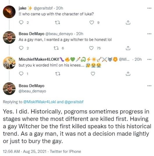 Luka witcher gay