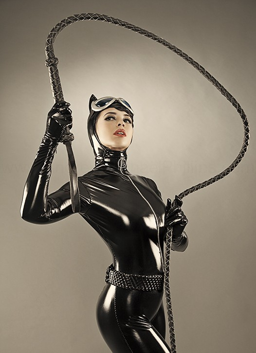 Catwoman cosplayed by Margie V Cox and photographed by Andrew Michael Phillips