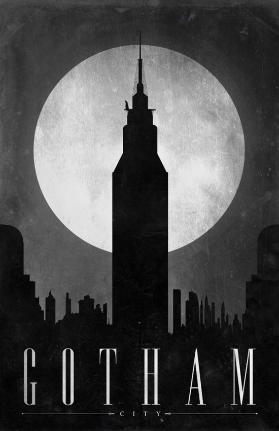 Comic Locations - Gotham by Justin Van Genderen