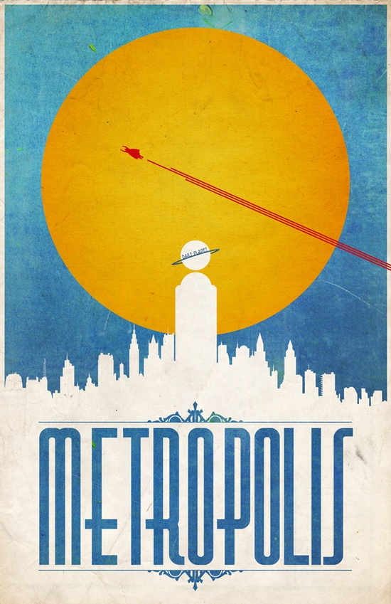 Comic Locations - Metropolis by Justin Van Genderen