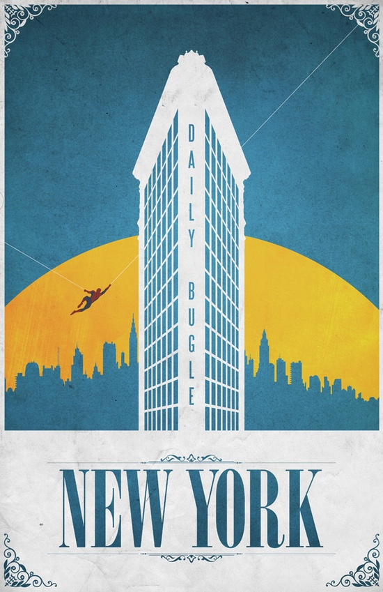 Comic Locations - New York by Justin Van Genderen