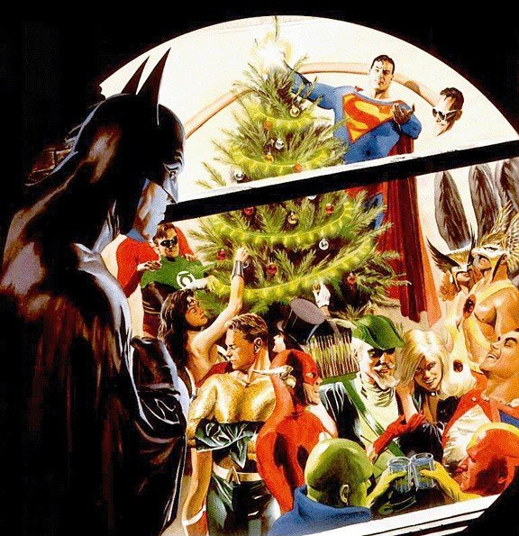 DC Holiday Scene by Alex Ross