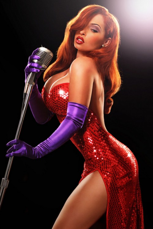 Jessica Rabbit cosplay photographed by  Ryan Anastamendi