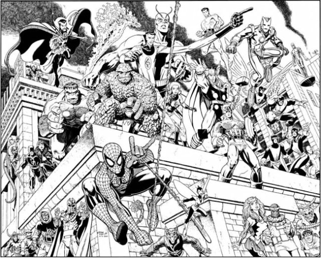 Marvel Universe by Arthur Adams