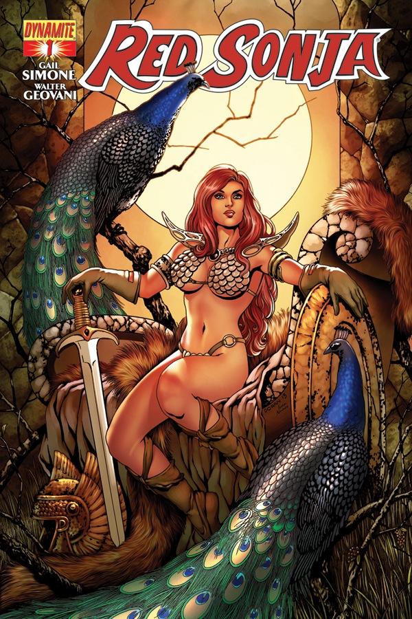 Red Sonja #1 cover by Colleen Dorna